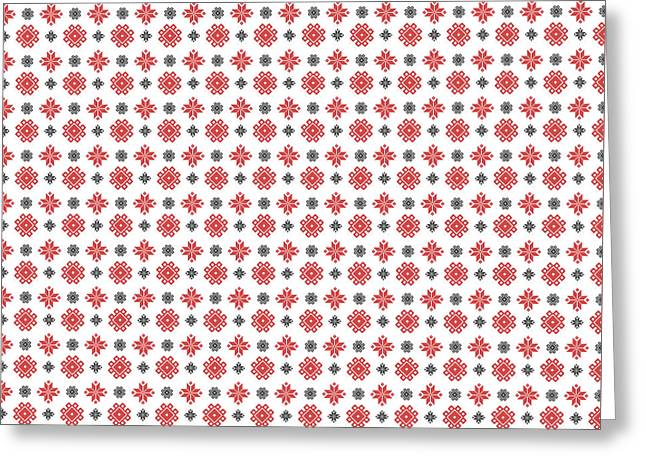 Greeting Card featuring the digital art Pixel Christmas Pattern by Becky Herrera