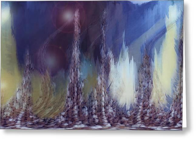 Pixel Dream Greeting Card by Linda Sannuti