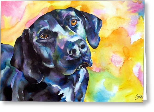 Pixie Dog - Black Lab Greeting Card