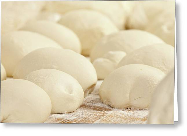 Pizza Dough Rising Greeting Card