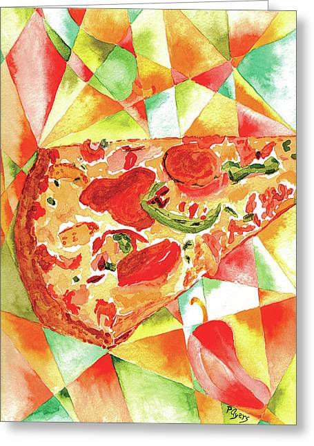 Pizza Pizza Greeting Card