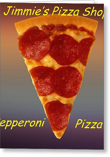 Pizza Slice Customized  Greeting Card by Movie Poster Prints