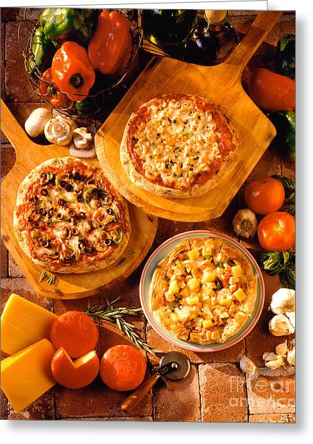 Pizza Still Life Greeting Card by Vance Fox