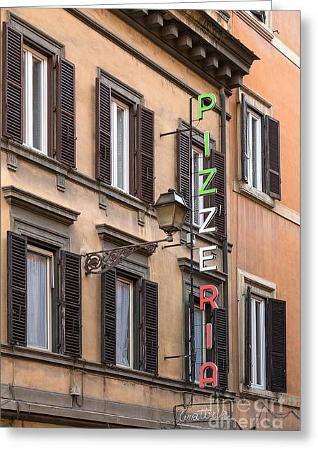 Pizzeria - Rome Greeting Card