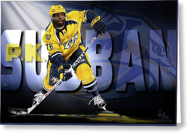 Pk Subban Greeting Card by Don Olea