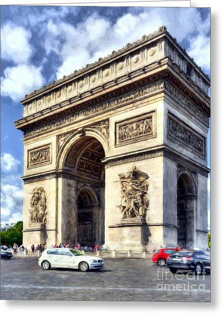 Greeting Card featuring the photograph Arc De Triomphe # 2 by Mel Steinhauer