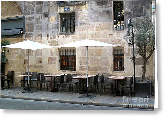 Place Des Victoires Cafe Greeting Card by Suzanne Krueger