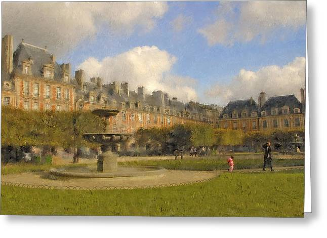 Place Des Vosges Greeting Card