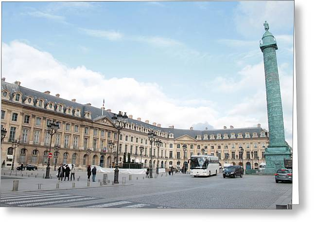 Greeting Card featuring the photograph Place Vendome by Christopher Kirby