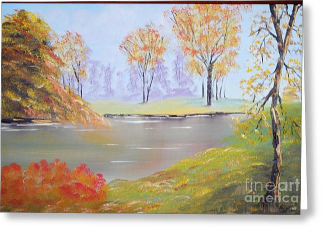 Placid Autumn Greeting Card by James Higgins