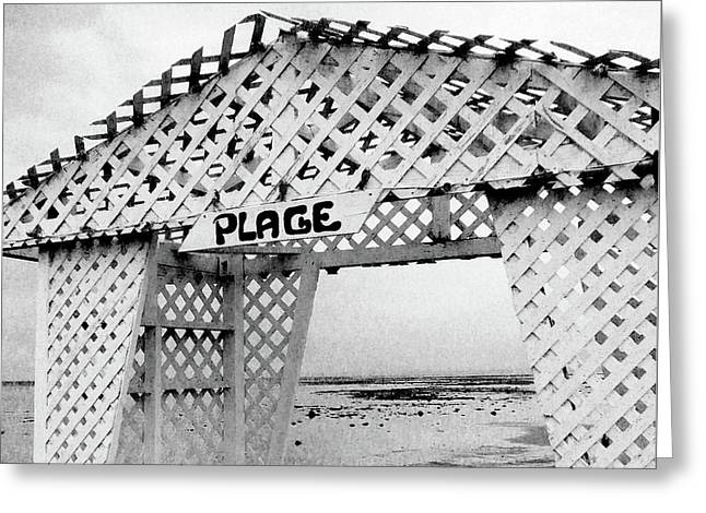 Plage Greeting Card by Adriana Zoon