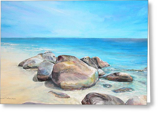 Plage Greeting Card by Muriel Dolemieux