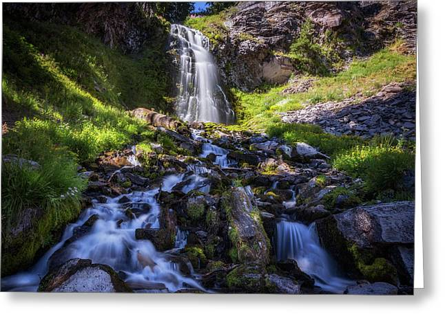 Plaikni Falls Greeting Card by Cat Connor