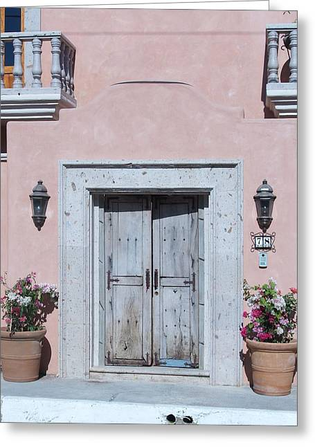 Plain Door Greeting Card by James Johnstone