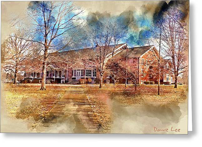 Plainfield Friends Meeting - A Quaker Church Greeting Card by Dave Lee