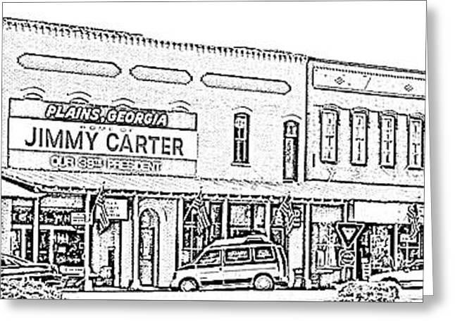 Plains Ga Downtown Greeting Card