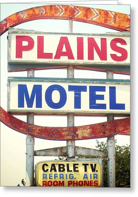 Plains Motel Greeting Card