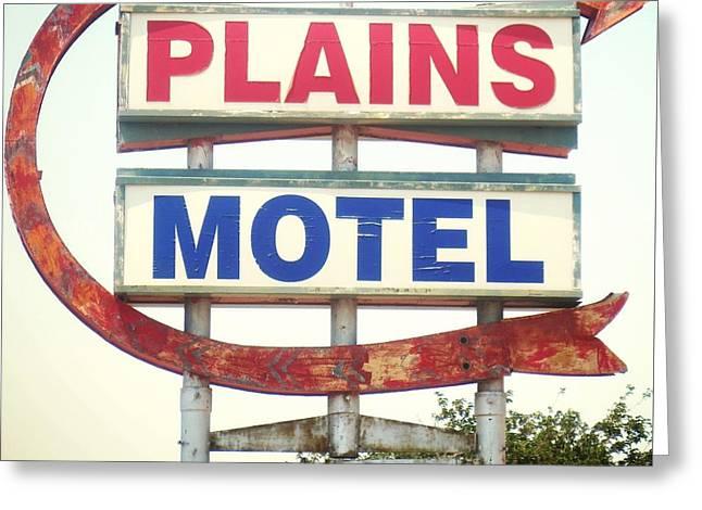 Plains Motel Greeting Card