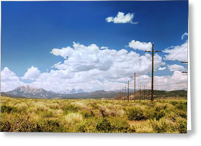 Plains Of The Sierras Greeting Card