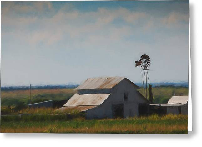 Plains Painted Barn Greeting Card by Jonas Wingfield