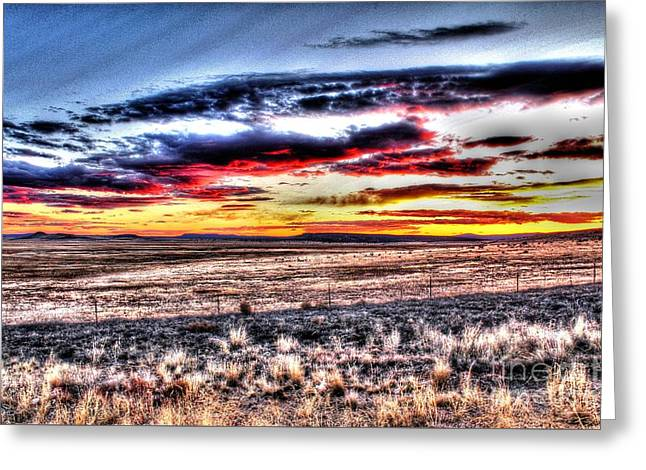 Greeting Card featuring the photograph Plains Sunset by Beauty For God