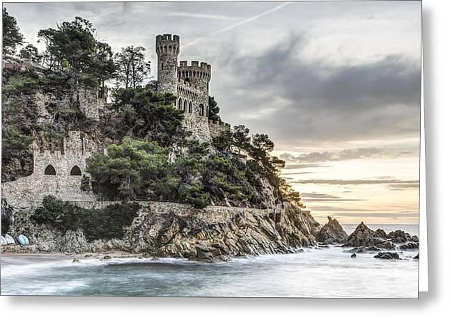 Plaja Castle, Lloret De Mar Greeting Card by Marc Garrido