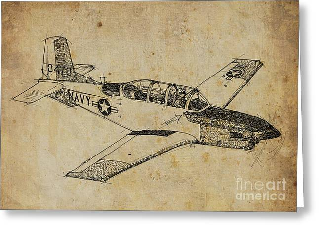 Plane 03 Greeting Card by Pablo Franchi