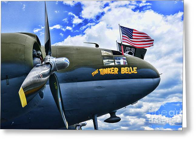 Plane - Curtiss C-46 Commando Greeting Card by Paul Ward