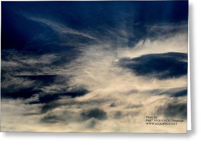 Plane In The Sky Greeting Card by Paul SEQUENCE Ferguson             sequence dot net