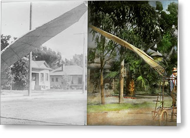 Plane - Odd - The Early Bird 1910 - Side By Side Greeting Card