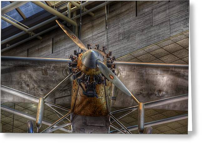 Spirit Of St Louis Propeller Airplane Greeting Card by Marianna Mills