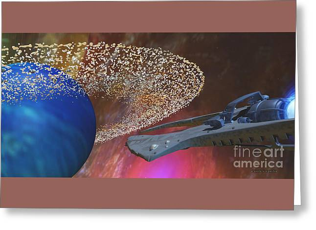Planet Asteroids Greeting Card