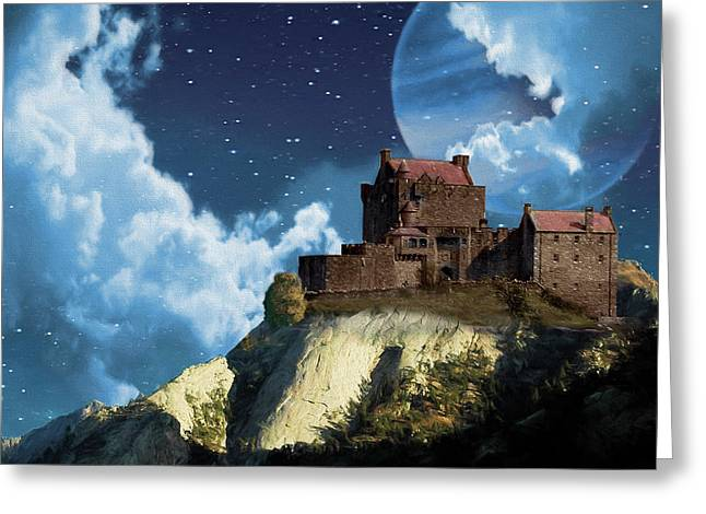 Planet Castle Greeting Card