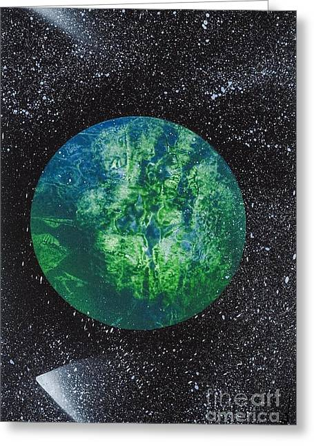 Planet Comet  Greeting Card