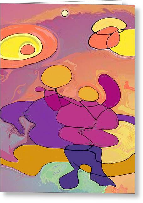 Planet Dancers Greeting Card