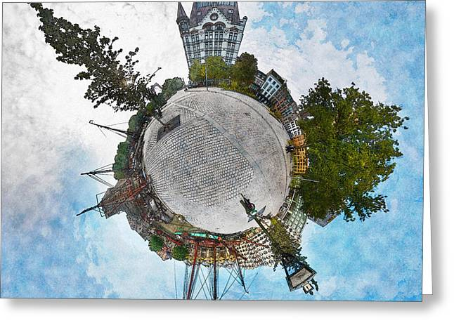Planet Gelderseplein Rotterdam Greeting Card