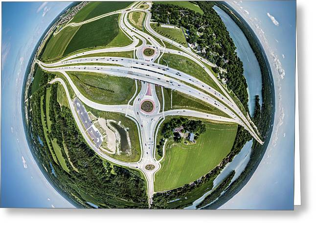Planet Of The Roundabouts Greeting Card
