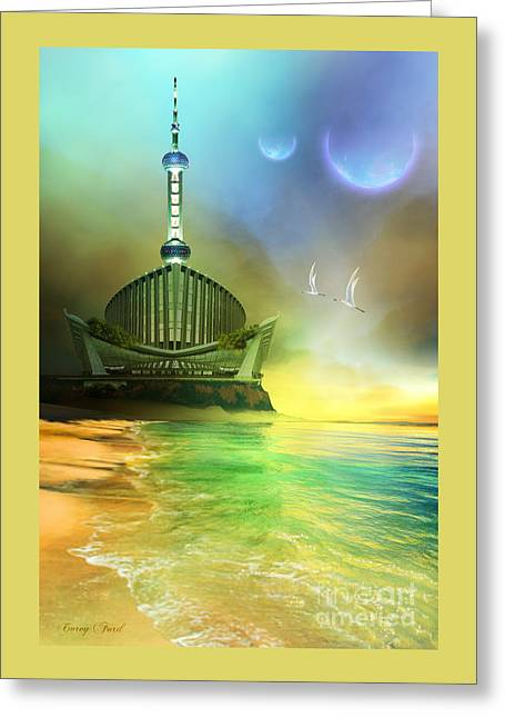 Planet Paladin Greeting Card by Corey Ford