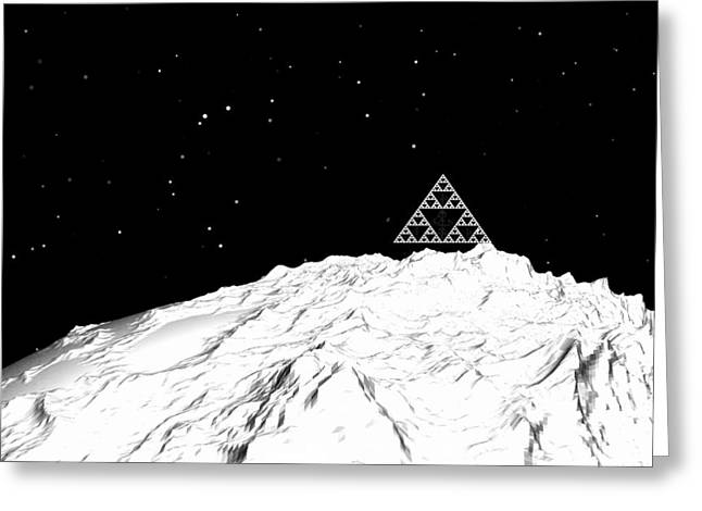 Planetary Mountain Greeting Card