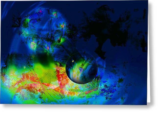 Planets Greeting Card by Contemporary Art