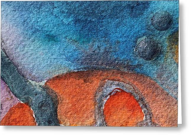 Planets Greeting Card by  Judy Bernier
