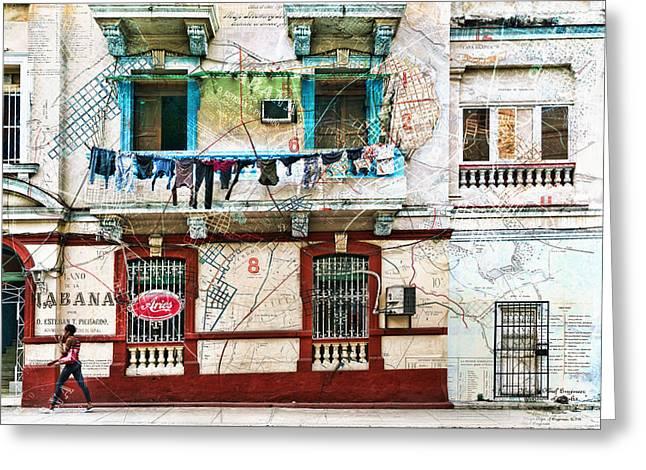 Plano De La Habana Greeting Card