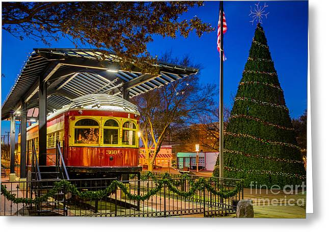 Plano Trolley Car Greeting Card