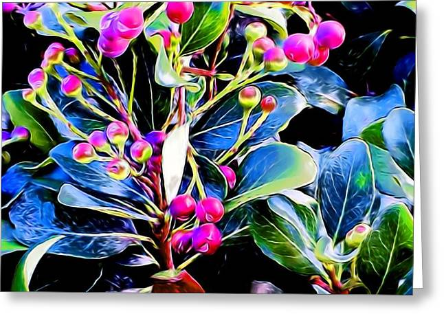 Plant 14 In Abstract Greeting Card