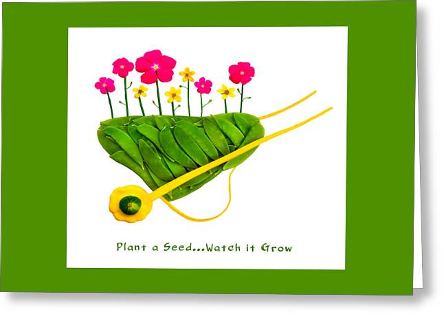 Plant  A Seed...watch It Grow - Captioned Greeting Card by Frederica Georgia