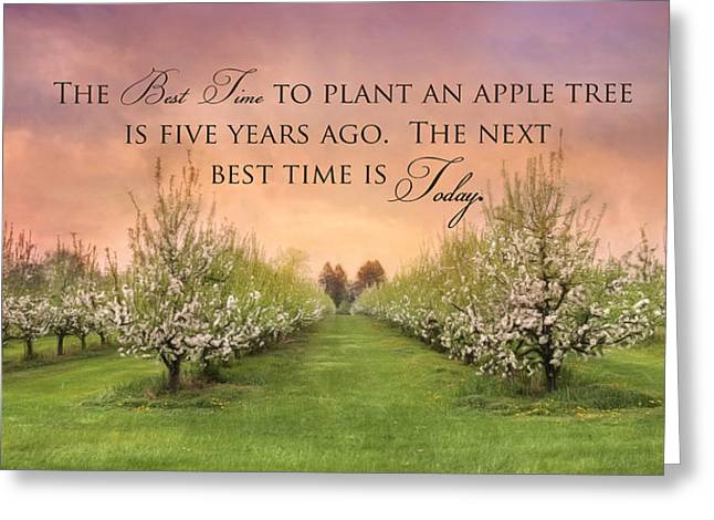 Plant An Apple Tree Greeting Card by Lori Deiter