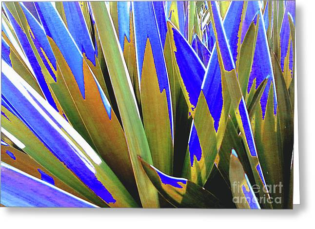 Plant Burst - Blue Greeting Card