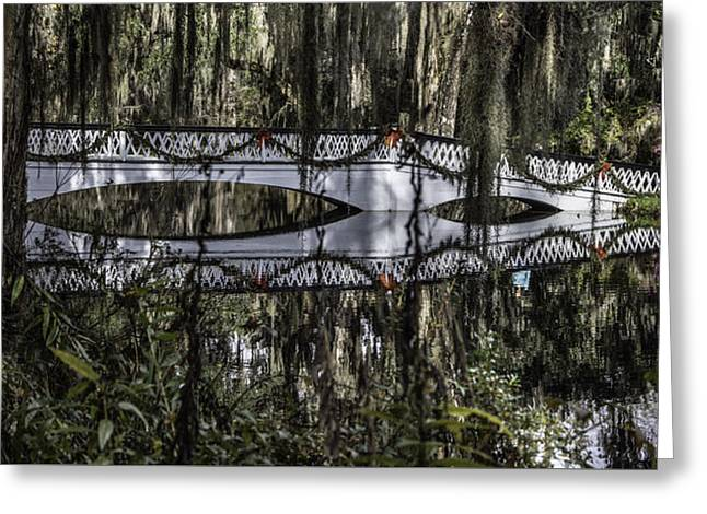 Plantation Bridge Over Swamp Greeting Card by John McGraw