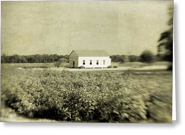 Frogmore Greeting Cards - Plantation Church Greeting Card by Scott Pellegrin
