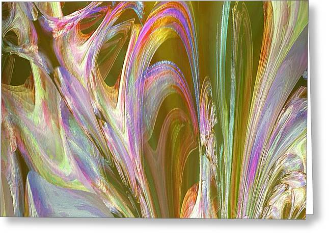 Plasma Flow Greeting Card by Michael Durst